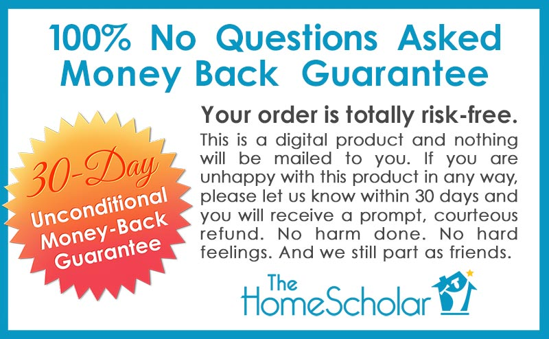 The HomeScholar Real Homeschool Mom Guarantee