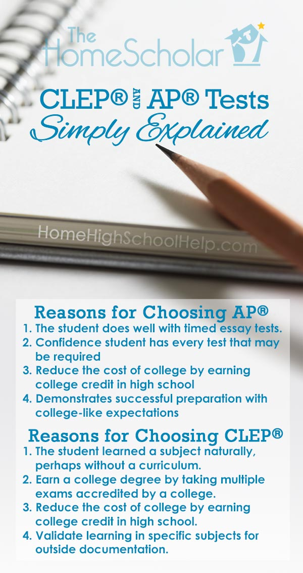 Reasons for Choosing CLEP Tests or AP Tests