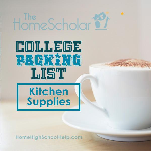 College Packing List - Kitchen Supplies
