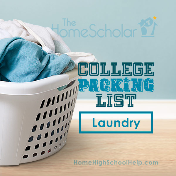 College Packing List - Laundry