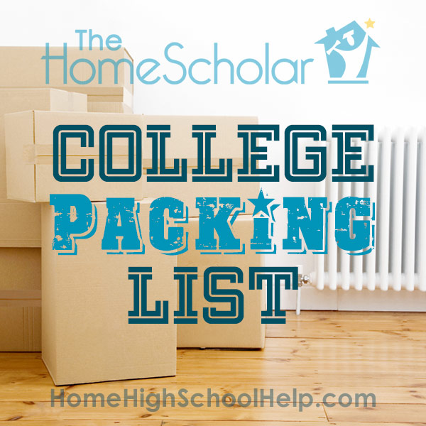 College Packing List #Homeschool @TheHomeScholar