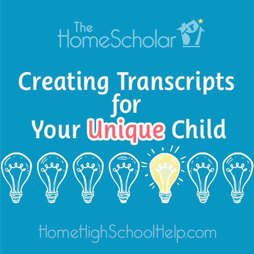 Homeschool Transcripts for Your Unique Child