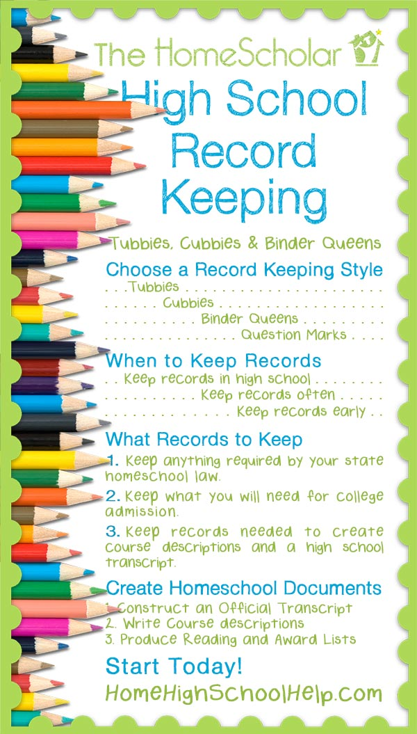 Homeschool Record Keeping Pin