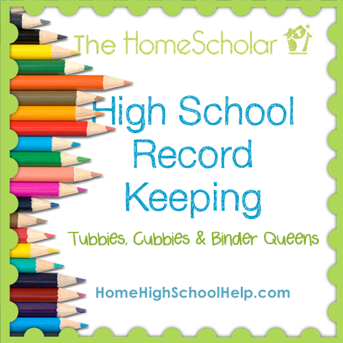 Homeschool Record Keeping in High School