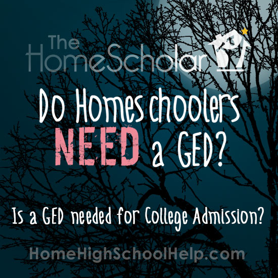 Do Homeschoolers Need a GED for College Admission?
