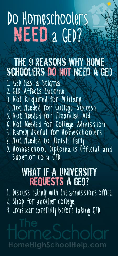 9 Reasons Homeschoolers Do Not Need a GED