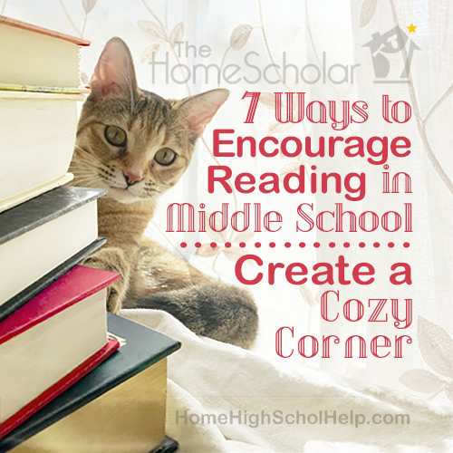 Encourage Middle School Reading with a Cozy Corner