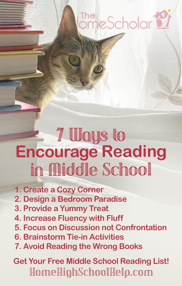 7 Ways to Encourage Middle School Reading