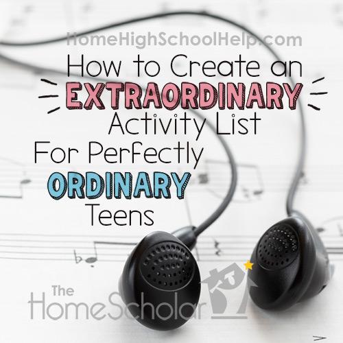 How to Build an Extraordinary Extracurricular Activities List