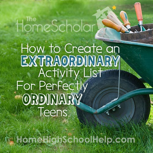 Extracurricular Activities List for Homeschool Teens