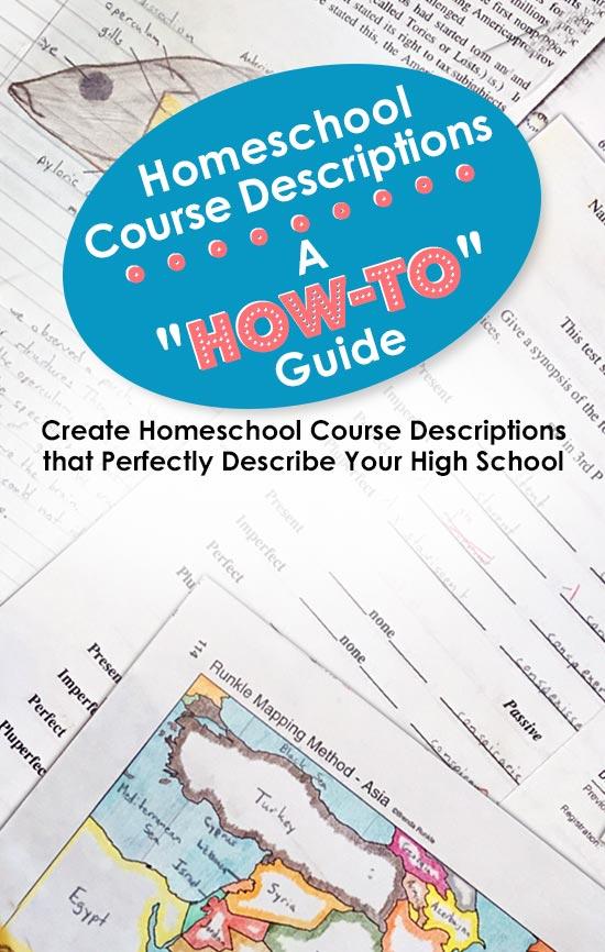 Homeschool Course Descriptions A How To Guide The Homescholar
