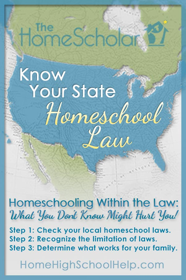 Know Your State #Homeschool Law @TheHomeScholar